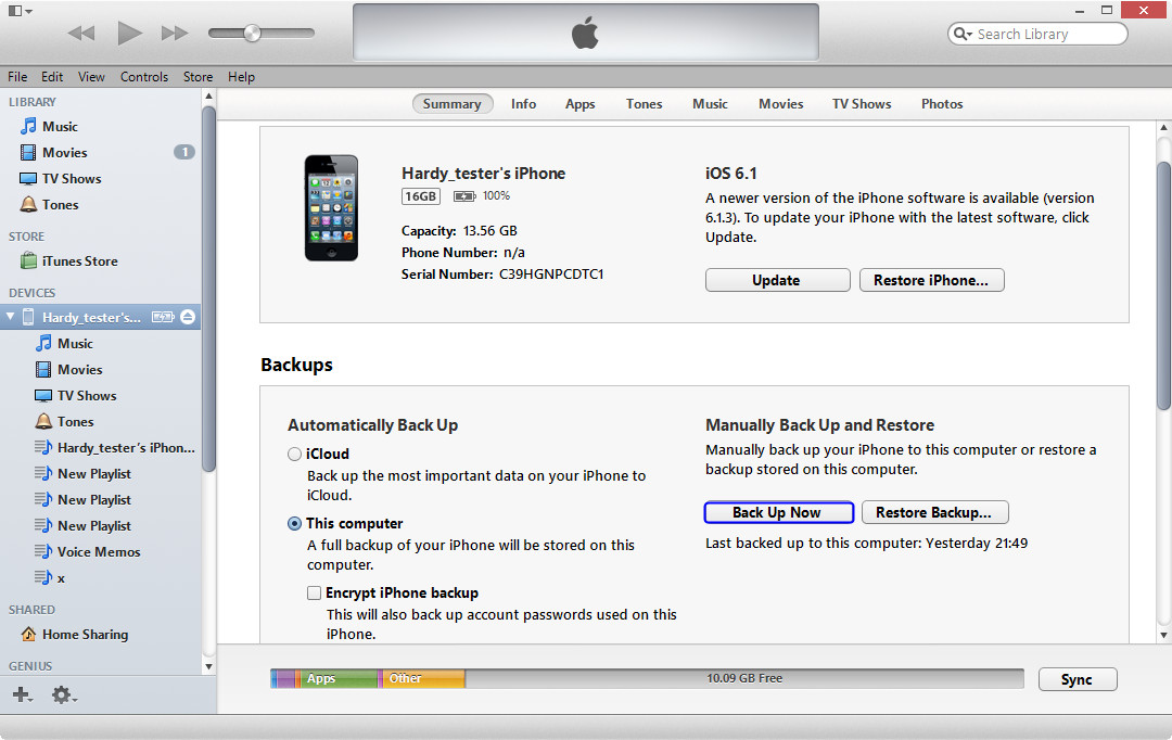 How to skip backing up iphone when updating