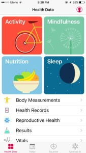 health app on iphone