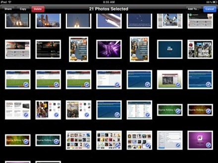 how to delete multiple photos in ipad 2