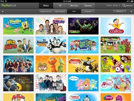 Hulu Plus For Ipad Updated Adds Kids Section Ipad Insight