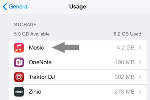 Remove All Music iOS 7