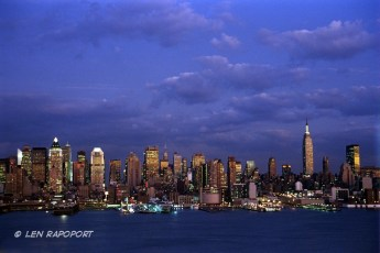 NY-Skyline Night-From New Jersey 2011