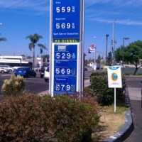 Gasoline Prices in San Diego, California, October 4, 2012