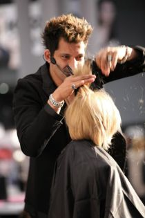 cutting hair
