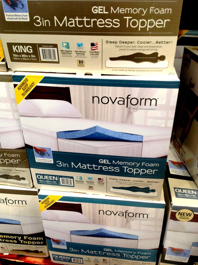 Sleep Innovations Novaform Memory Foam Topper At Costco