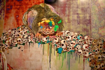Section of the polyptych by Takashi Murakami 727-272 (The Emergence of God at the Reversal of Fate) (3)