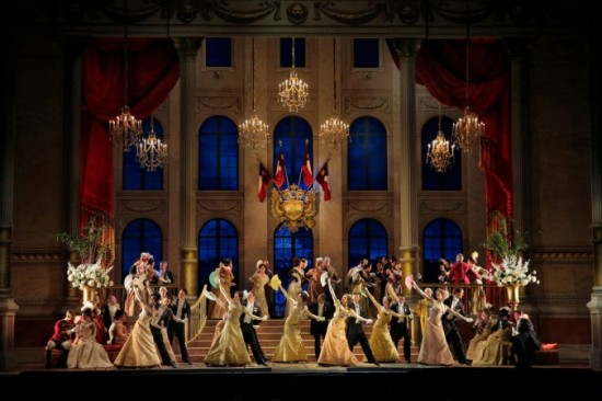 Grand Party Scene, MET Opera Production, The Merry Widow, 2014-15