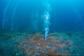 The bottom of the barge.  wide angle