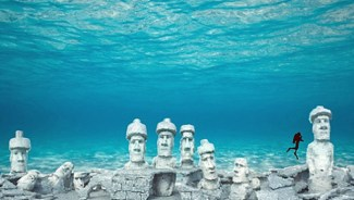 Artist's rendition of the Rapa Nui Reef