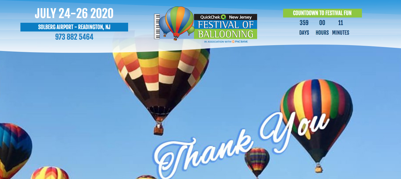 Balloon Festival 2020 Nj.2019 Quickchek Festival Of Ballooning Huge Success Travel