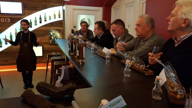 IPA members in The Whiskey Museum