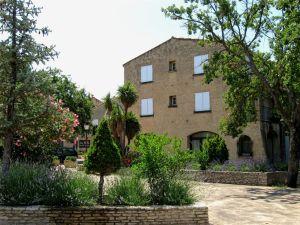 Les Salles-du-Verdon, Provence, square, small park, lavender