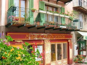 Castellane, Corges du Verdon, France, Provence, medieval town, geranium, colourful facade
