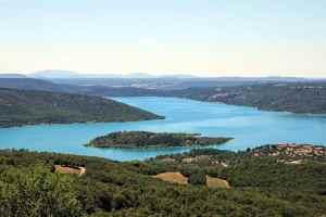 Lake of Sainte-Croix, Provence, France, Les Salles