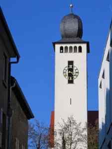 St Laurentius Church, Bretten, Germany, catholic church, church tower