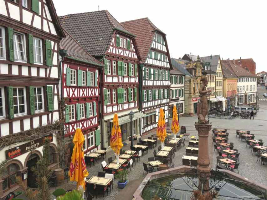 The Market Square in Bretten, Germany