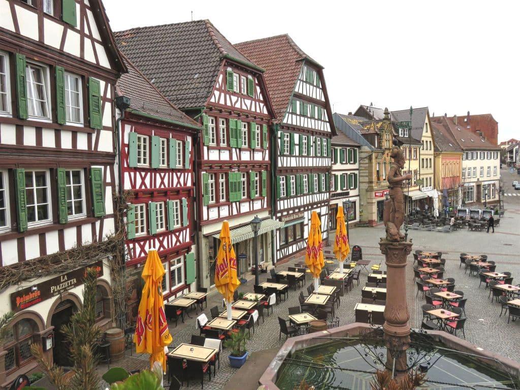 The Market Square in Bretten, Germany
