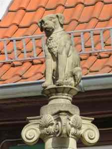 Statue of Dog, Bretten, Germany, Brettner Hundle