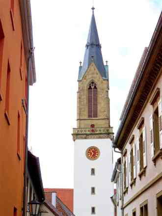 The Stiftskirche in Bretten, Germany