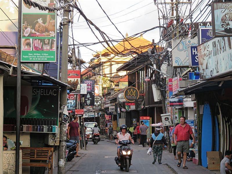 Street in Kuta - Bali, Indonesia