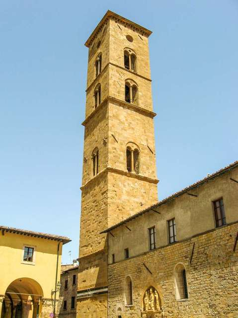 The bell tower on Piazza San Giovanni, Volterra