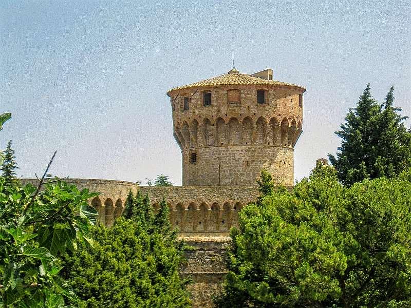 Medici Fortress, Tower, Volterra, Tuscany, Italy