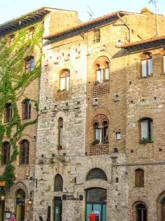Houses on Piazza della Cisterna - San Gimignano