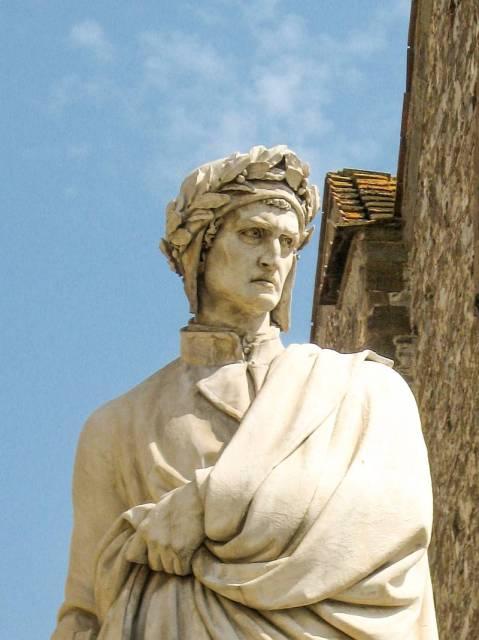 Statue of Dante Alighieri in Florence