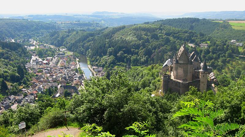 Vianden on the River Our and the Castle of Vianden