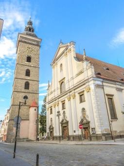 The Black Tower and the Cathedral in Ceske Budejovice