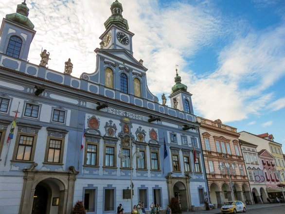 The Town Hall in Ceske Budejovice