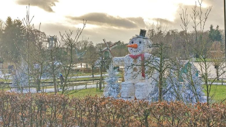 Winter decorations at the Efteling