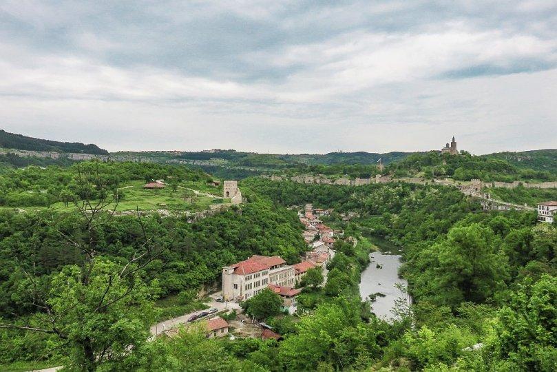 Veliko Tarnovo and Yantra River with Tsarevets and Trapezitsa