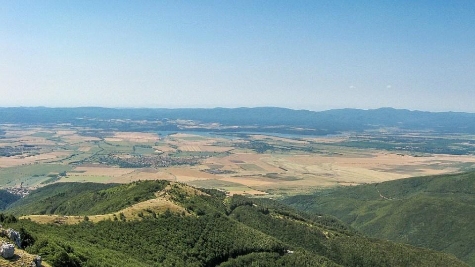 View from Mount Shipka to Sredna Gora