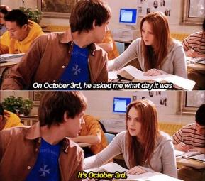"""""""It's October 3rd."""""""