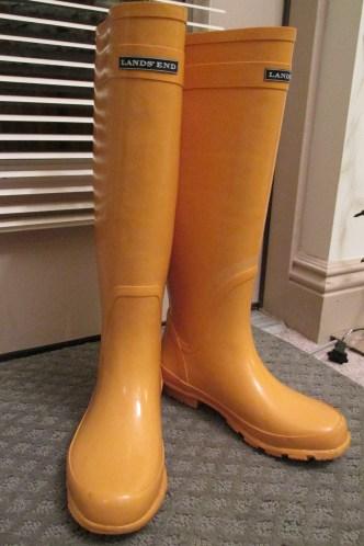 Land's End rain boots: $14