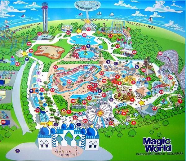 Il parco divertimenti Magic World a Napoli in Campania