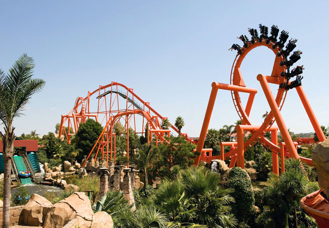 Il parco divertimenti Gold Reef City a Johannesburg in Sudafrica