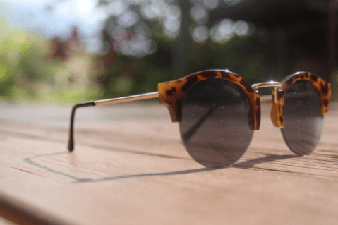 Sport sunnies: Wear sunglasses to avoid the sun's harmful rays and to look like a movie star. (Photo: Carrie Kuecks)
