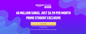 Amazon Prime Student AND $.99 Amazon Unlimited Music! #deannasdeals