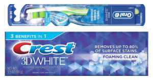 $.32 Crest or Oral-B Products At Walgreens