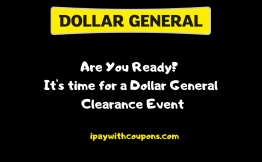 10/9-10/11 Dollar General Clearance Event