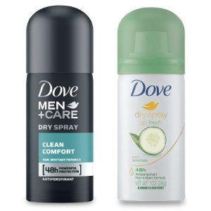 Free Dove Dry Spray Antiperspirant Sample #deannasdeals