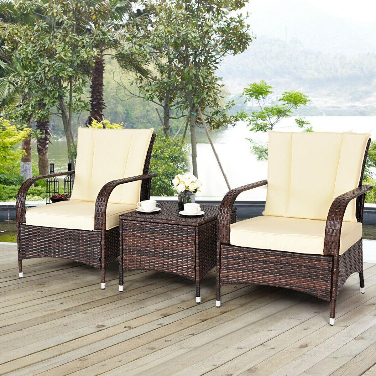 costway 3pcs outdoor patio set