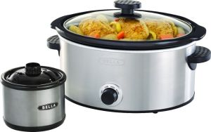 $17.99 Bella 5-qt. Slow Cooker with Dipper Stainless Steel