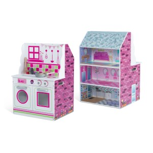 Plum 2-in-1 Dollhouse and Play Kitchen $20.00!