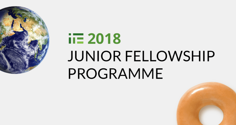 Poziv za prijave: 2018 IPE Junior Fellowship