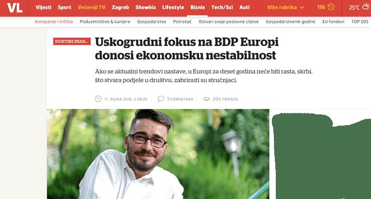 "<a href=""https://www.vecernji.hr/biznis/uskogrudni-fokus-na-bdp-europi-donosi-ekonomsku-nestabilnost-1270313"" target=""_blank"">Mladen Domazet o otvorenom pismu više od 200 europskih znanstvenika za odrast i protiv rasta | Večernji list, 17.9.2018.</a>"