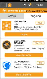 Earn TalkTime App - Proof