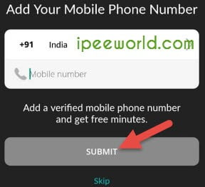Verify Mobile Number in Primo - Fake WhatsApp Account